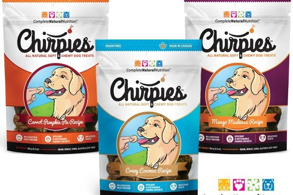 Chirpies Dog Treats – Packaging Illustrations